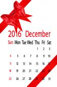 Calendar for the month of december — Stock Photo