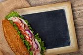 Deli sub sandwich — Stock Photo