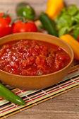 Spicy red salsa — Foto de Stock
