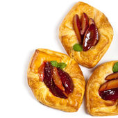 Plums pastries — Stock Photo