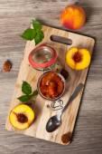 Persika marmelad — Stockfoto