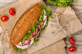 Сэндвич sub — Стоковое фото