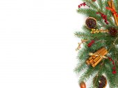 Holiday Decorations. Christmas composition. — Stock Photo
