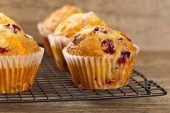 Muffins with cranberry — Стоковое фото
