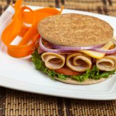 Whole Wheat Thin Sandwich Roll — Stock Photo