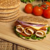 Whole Wheat Thin Sandwich Roll — Stock Photo