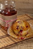 Muffins with cranberry — Stock Photo