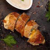 Prosciutto Wrapped Chicken — Stock Photo