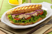 Tuna Panini Sandwich — Stock Photo