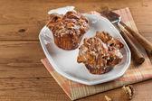 Cinnamon Raisin Cobblestone Muffins — Stock Photo