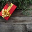 Christmas card with the gift — Stock Photo #59487265