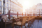 Open terrace of Cafe — Foto Stock