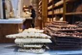 Chocolate shop in Belgium — Stock Photo