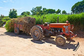 Farm tractor parked — Stock Photo