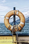 Hung Life buoy  — Stock Photo