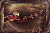 Santa Claus Greetingcard — Stock Photo