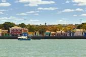 Colored houses at Porto Seguro coast — Stock Photo