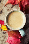 Autumn coffee — Stock Photo