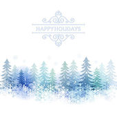 Holiday background with snow scenery — Stock Vector