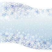 Winter background with blue snow scenery — Stock Vector