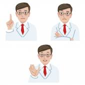 Doctor expression — Stock Vector