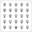 Map pointer and Location icons set — Stock Vector