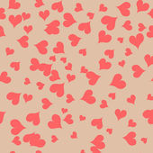 Texture with pink hearts — Vector de stock