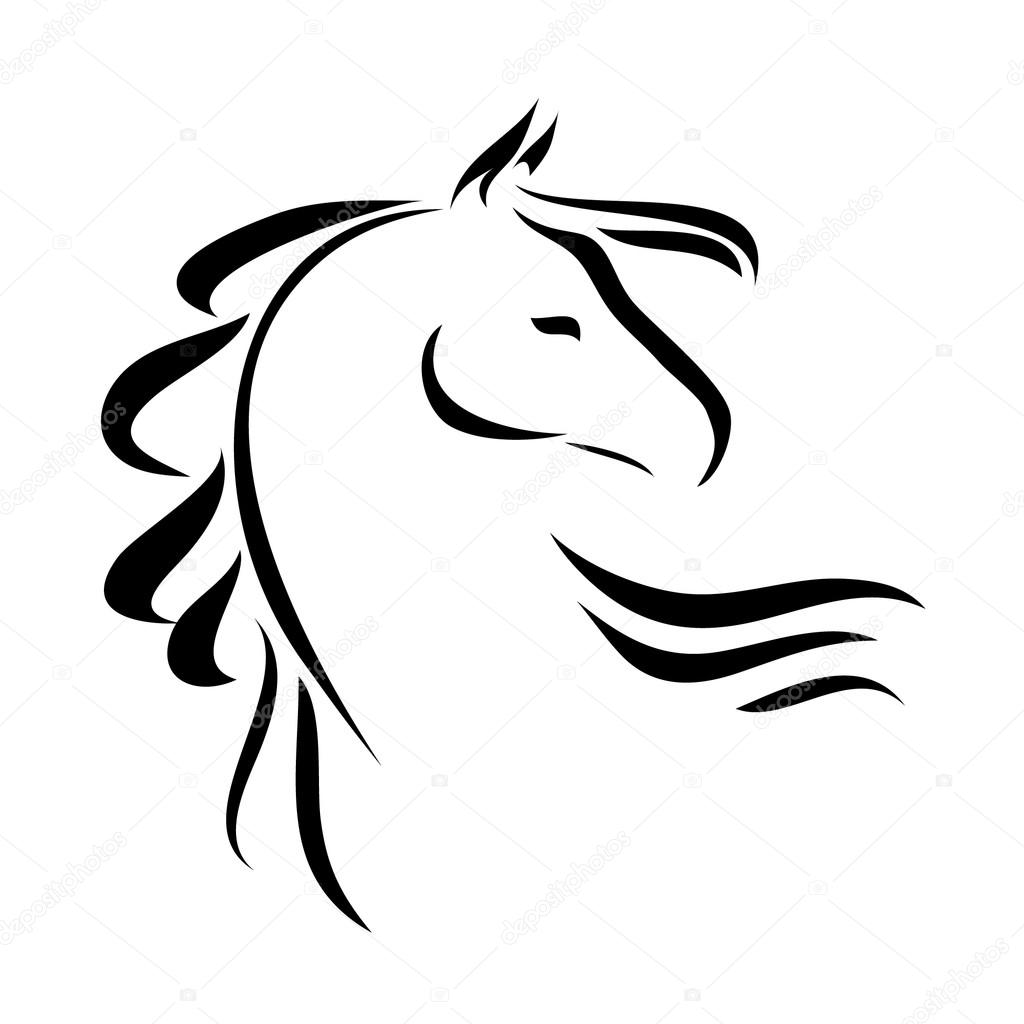 vector tekening paard stockvector  u00a9 ilasla 77768248 running horses clip art pictures running horse clip art coloring pages