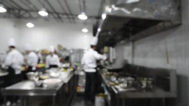 Motion chefs of a restaurant kitchen — Stock Video
