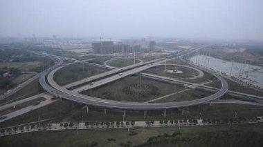 中国を上海のブリッジと市の夜景 — ストックビデオ