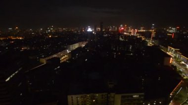 Night view of the bridge and city in shanghai china — Stock Video