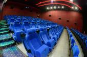 The empty chair in the cinema — 图库照片