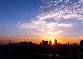 The city of sunrise — Stock Photo
