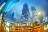 High-rises in Shanghai's new Pudong banking and business distric — Stock Photo