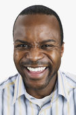 African man laughing — Stock Photo
