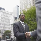 商人握手 — 图库照片