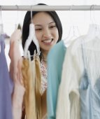 Asian woman clothing shopping — Stock Photo