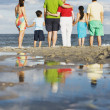 Family holding hands at beach — Stock Photo #52032249
