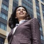 Indian businesswoman in urban scene — Stock Photo #52032615