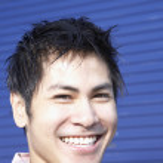 Pacific Islander man smiling — Stock Photo #52036581