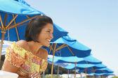 Young woman wearing sundress — Stock Photo
