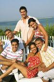Multi-ethnic friends outdoors — Stock Photo