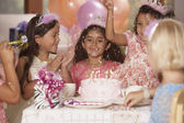 Girls at birthday party — Stock Photo