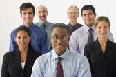 Businesspeople in a group — Stock Photo