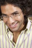Hispanic man wearing eyeglasses — Foto de Stock