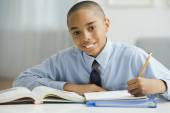 African boy studying — Stock Photo