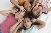 Young girls being silly — Stock Photo
