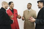 Group of African American businessmen laughing — 图库照片