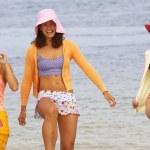Three young women at beach — Stock Photo #52040659