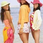 Three young women at beach — Stock Photo #52041625